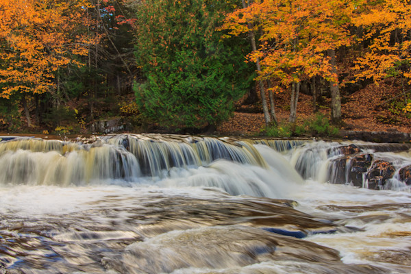 Bond Falls in Autumn 3 Photograph for Sale as Fine Art