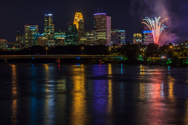 Fireworks Images - Fine Art Prints on Canvas, Paper, and Metal by William Drew Photography