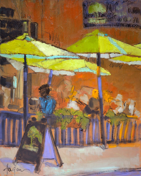 Miss Having Lunch with You | Cafe Scene Fine Art Print | Dorothy Fagan Collection
