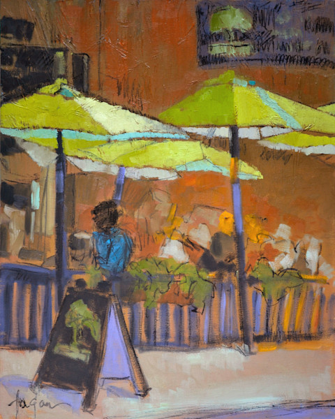 Miss Having Lunch with You | Cafe Scene Original Painting | Dorothy Fagan