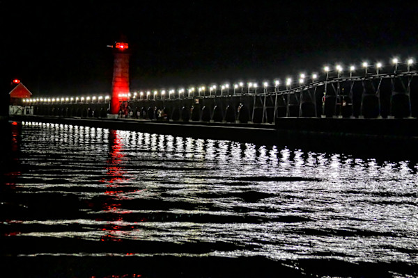 South Pier Light Reflections