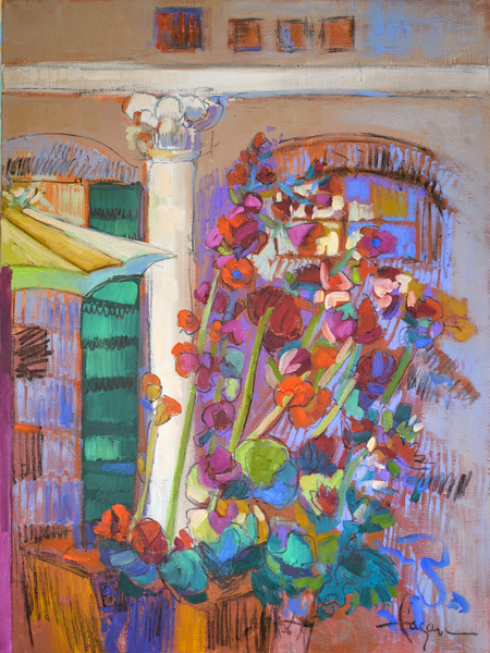 Contemporary Abstract Floral Paintings  Dorothy Fagan Collection