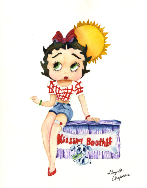 Betty Boop art by Gayela's Premiere Watercolor|Main Store
