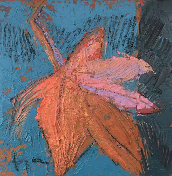 Autumn Leaf - Original Mixed Media Painting