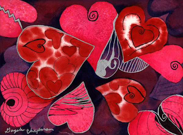 Hearts Galore art by Gayela's Premiere Watercolor|Main Store