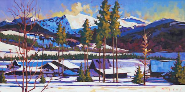 Tabernash Sunrise, oil on canvas painting by artist Matt McLeod, on Matt McLeod Fine Art Gallery.