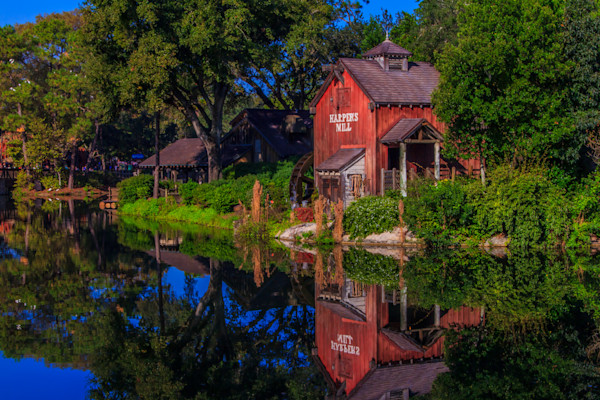Harpers Mill Reflection Photograph for Sale as Fine Art