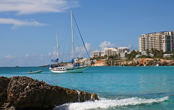 St. Martin and sailboat