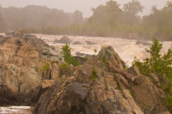 Fine Art Photograph of Mighty Rocks of Great Falls in Virginia by Michael Pucciarelli