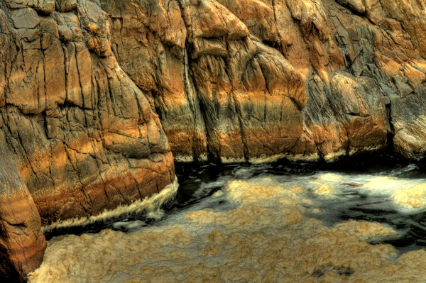 Fine Art Photograph of Mighty Rocks of Great Falls by Michael Pucciarelli