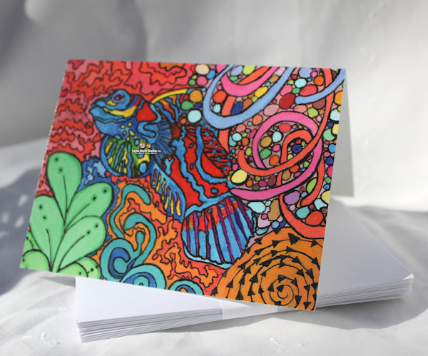 Sea Creatures Blank Notecards