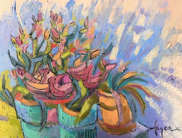 Happiness Grows Between the Cracks | Original Fusion Mixed Media Painting Dorothy Fagan Collection