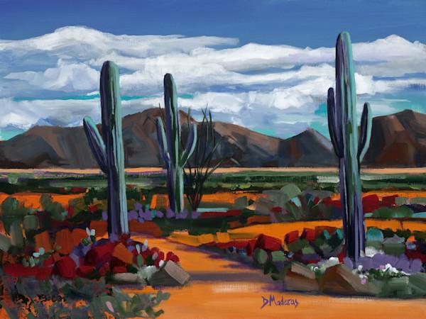 Desert Painting Original by Diana Madaras | Trail II