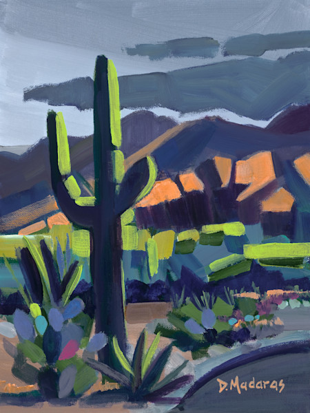 Abstract Desert Painting by Diana Madaras | Desert Cubes