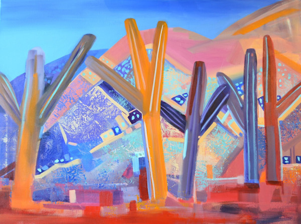 Abstract Desert Painting by Diana Madaras | Nuggets in the Desert