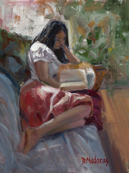 Post-Impressionist Figure Painting by Diana Madaras | Girl on the Couch