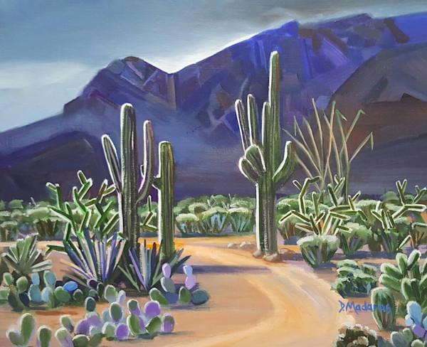 Saguaro Desert Painting by Diana Madaras | Illumination