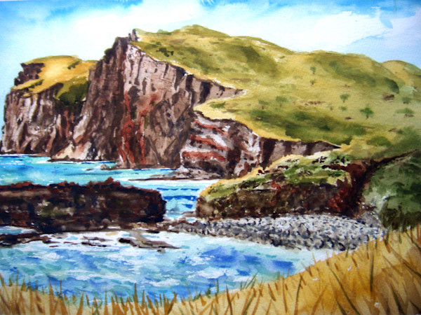 Kaunolu Cliff Painting for Sale