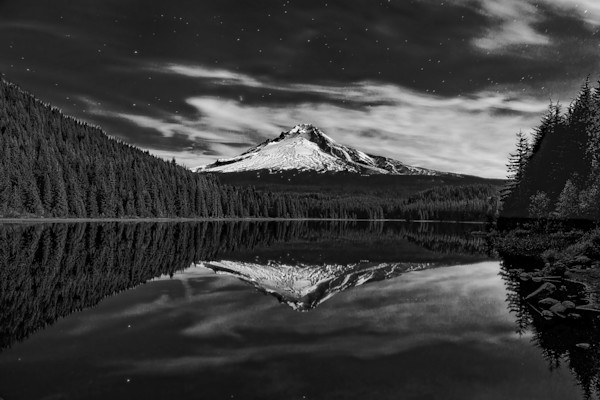 Mount Hood Reflected In Trillium Lake