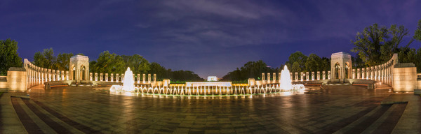 World War II Memorial Panorama photograph for sale as art by Mike Jensen