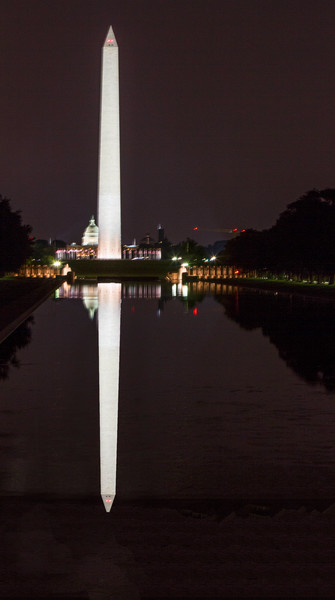Washington Monument Reflection night photograph for sale as art by Mike Jensen