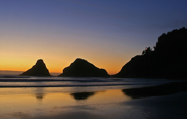 Heceta Head Lighthouse and Devil's Elbow Photograph for Sale as Fine Art