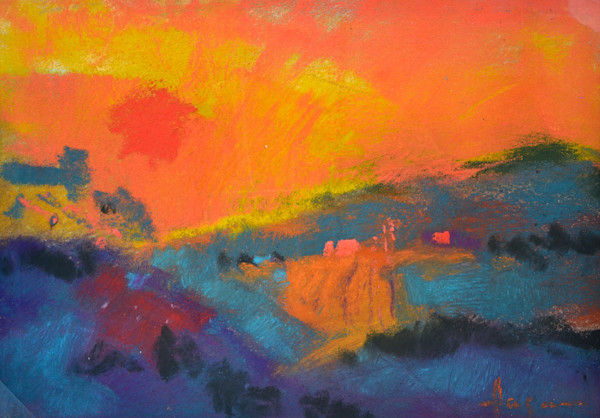 Waking Dream II ~ Small Mountain Landscape Painting Dorothy Fagan Collection