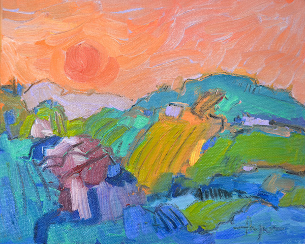 Waking Dream III ~ Original Painting Dream Mountain Landscape Dorothy Fagan Collection