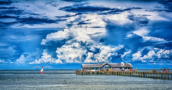 Anna Maria Pier and the Skyway Bridge