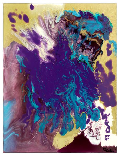 Purple Majesty Original Abstract Resin Art Online