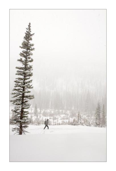 Snowshoeing in St. Elmo