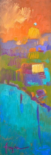 Goddess with Diamond | Abstract Landscape Art Print Dorothy Fagan Collection