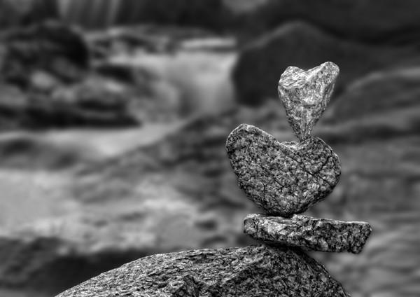 Balanced Heart Rocks