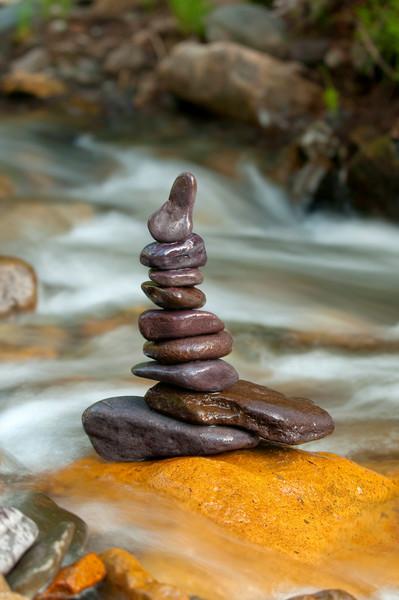 Purple Balanced Rocks