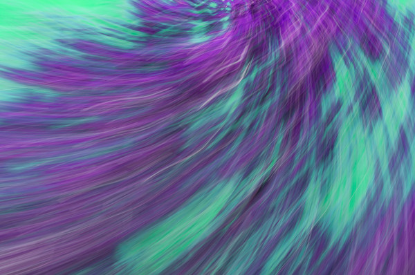 Abstract in Teal and Purple