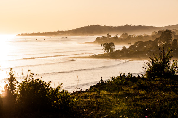 West Swell Wraps into Santa Barbara, California - Fine Art Print by Jason Baffa