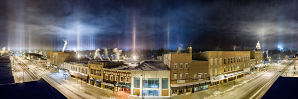 Light Pillar Panorama