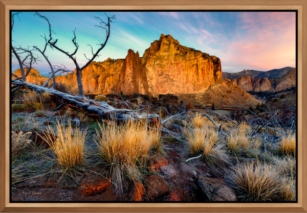 Rock Wall Sunrise (131039LND8) Smith Rock State Park Steve J. Giardini