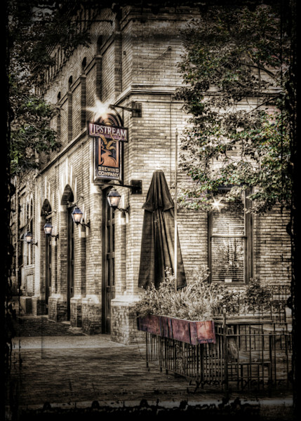 Lynda Tygart Cafe Restaurant Pub Old Market Omaha Nebraska Upstream Brewery – Fine Art Photographs Prints on Canvas, Paper, Metal and More.