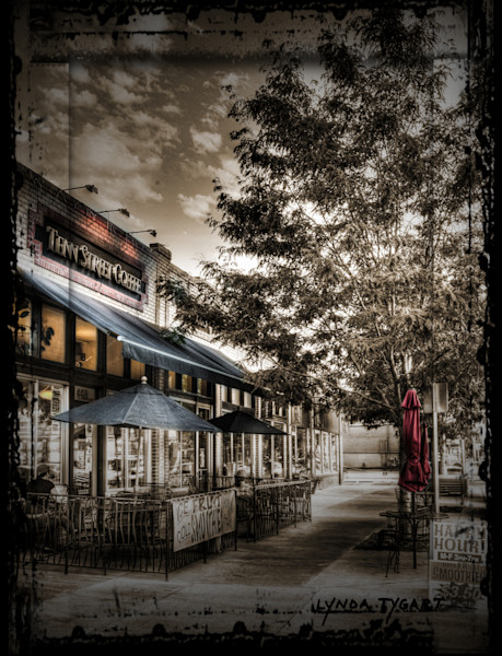 Lynda Tygart Fine Art Photographs Prints of Tenn Street Coffee in Denver Colorado in Tennyson Berkeley Neighborhood on Canvas, Paper, Metal & More.