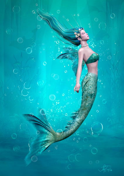 Underwater Mermaid, swimming, ocean, fantasy-mermaid