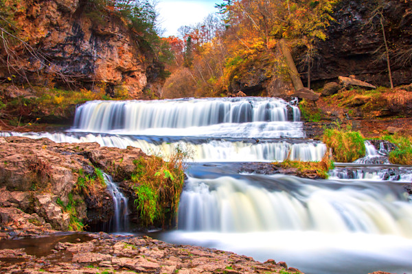 Willow River Falls in Autumn Photograph for Sale as Fine Art