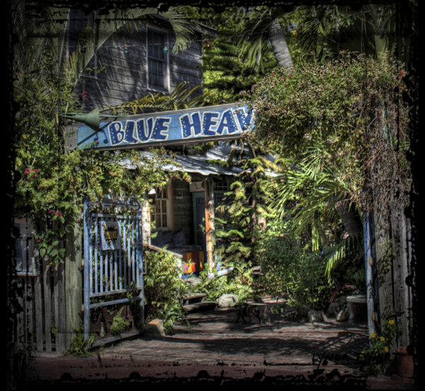 Lynda Tygart Key West Florida Blue Heaven Cafe Restaurant – Fine Art Photographs Prints on Canvas, Paper, Metal & More.