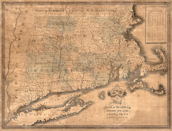 Massachusetts, Rhode Island and Connecticut 1840