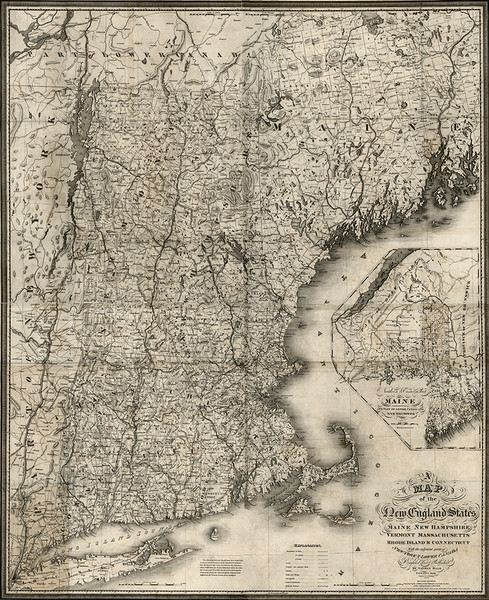 Map of New England 1826