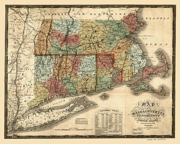 Massachusetts, Rhode Island and Connecticut 1831