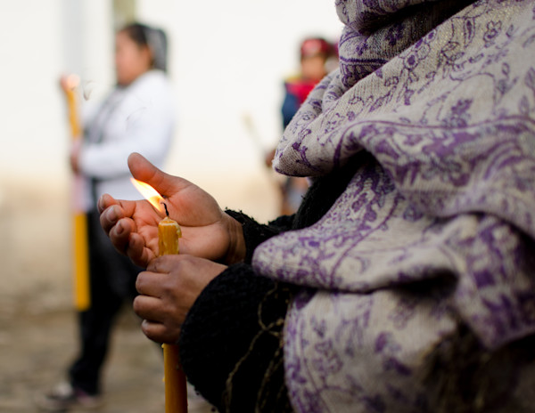 Woman With A Candle | Fine Art Travel Photograph