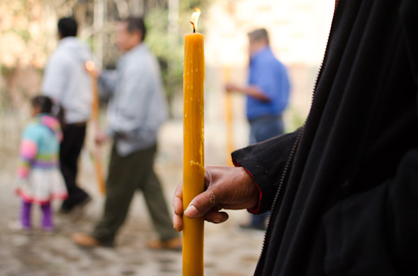 Man Holding Candle In Procession | Fine Art Travel Photographs
