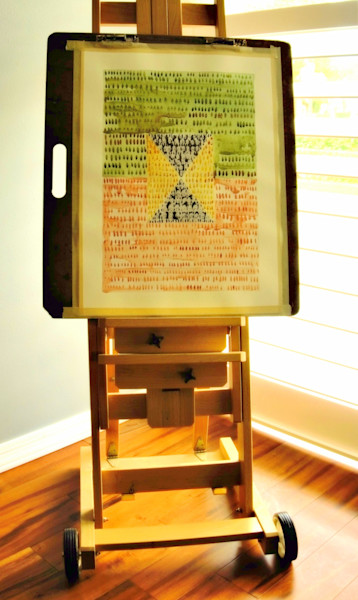 My easel in the light