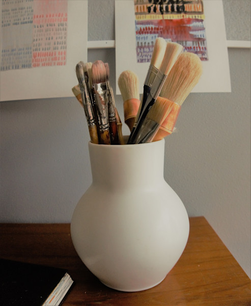 My brushes ready to go!
